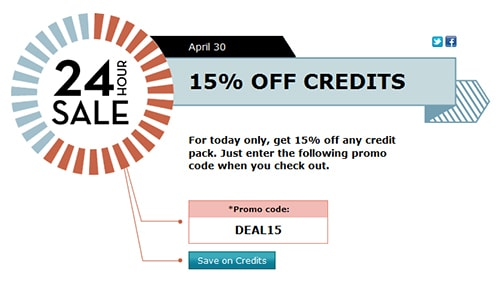 Take 15% off All Credits at iStockphoto.com! Enter Promo Code DEAL15 at Checkout. Offer Valid on 4.30.13 Only! Buy Now!