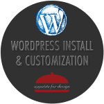 WordPress Install & Customization