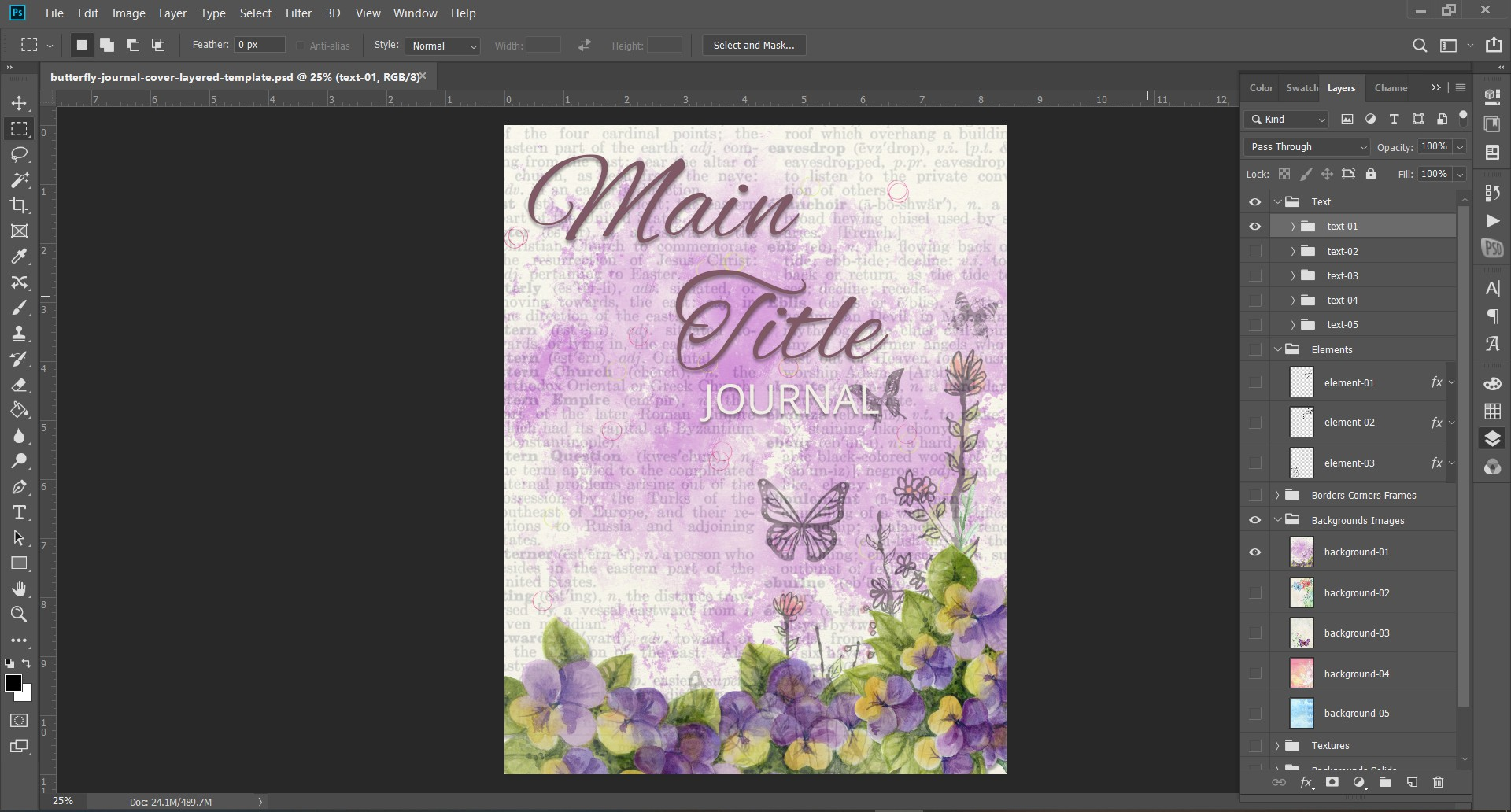 butterfly-journal-cover-template
